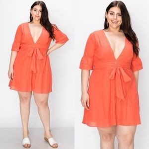 Dresses & Skirts - Ocean View Coral Plus Size Dress